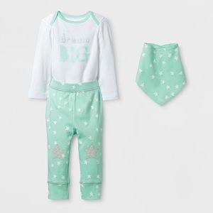 NWT Baby 3pc Dream Big Bodysuit Size 24mo